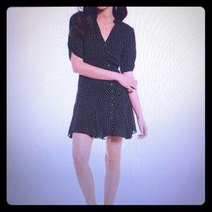 Free People Pippa Dot Drop Waist Dress Size Small